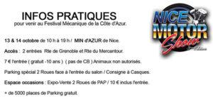info pratiques motor show